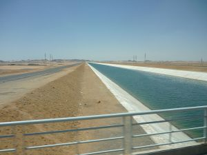 Sheikh Zayed canal of Toshka New Valley project, Egypt. Wikipedia, 10/22/2013