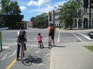 Bike Lanes in Montreal. Photo via Flickr, 2013.