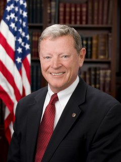 Jim Inhofe Accessed from http://en.wikipedia.org/wiki/Jim_Inhofe  on 10/23/13