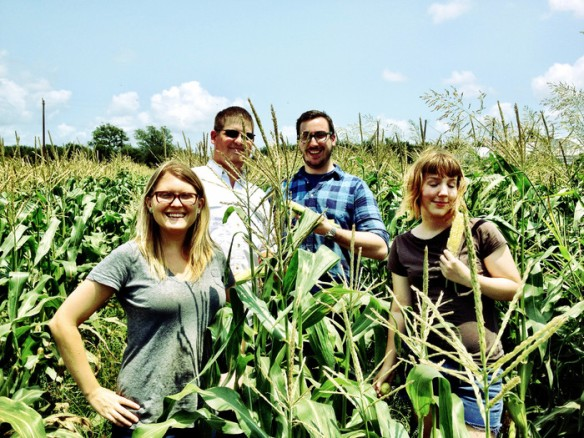 The team behind Dallas, Texas' Urban Acres project, a crowdsourced urban farmstead.  Photo courtesy Urban Acres Kickstarter page. http://kck.st/18sBSgv