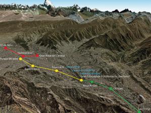 Planned route of the La Paz gondola system. Graphic credit, cnn.com