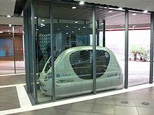 PRT pod car; Wikipedia (2013)