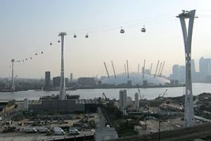 Towers of the Emirates Air Line gondola in London. Wikipedia, 12/14/2013.