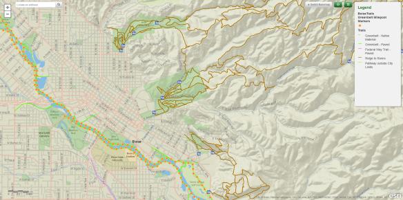 Boise Trails Map