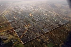 Rendering of Masdar City; Wikipedia (2013)
