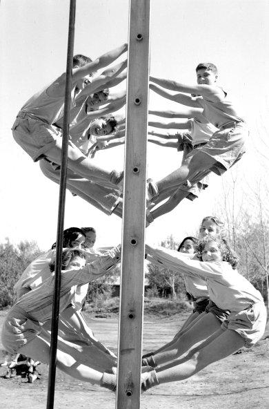 Schoolchildren at kibbutz - Kibbutz Yagur Archive - 1952