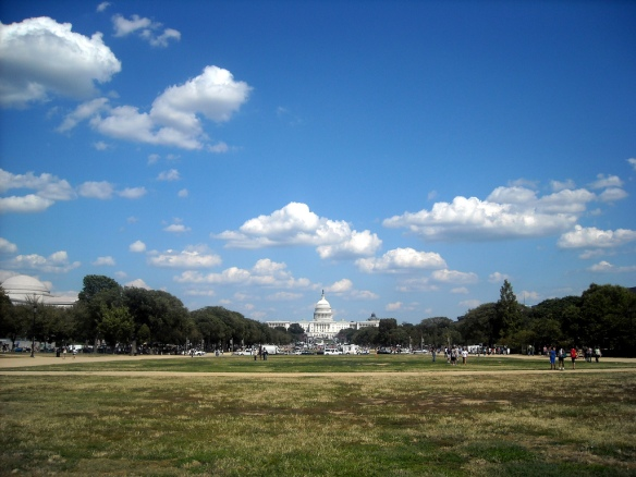 The National Mall today, with its well-worn City Beautiful lawns. Courtesy Flickr, NCinDC