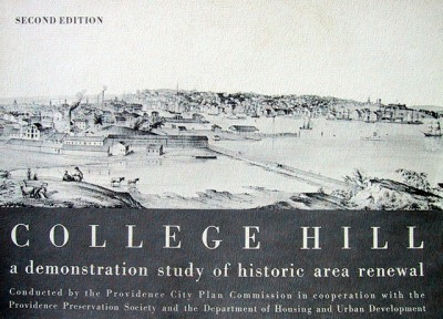 College Hill: A Demonstration Study of Historic Area Renewal publication, accessed 2/19/14, PhilipcMarshall