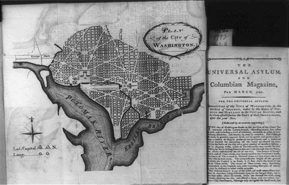 L'Enfant's plan for Washington, D.C. Courtesy Library of Congress.