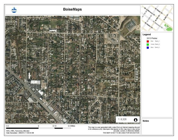 The Collister area, 2013. City of Boise Advanced Property Research. Accessed 3/8/2014.