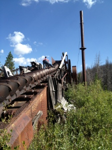 Steam Dredge at Warren Idaho - Sean Kelly
