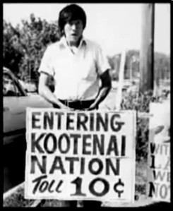 With no money to send Amy Trice to Washington D.C. to negotiate, the Kootenai set up a toll road for all entering their  land. Picture accessed from Missoula Independent.